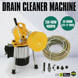 00ft 3 4 Drain Auger Pipe Cleaner Machine Max Length Electric Portable Hot