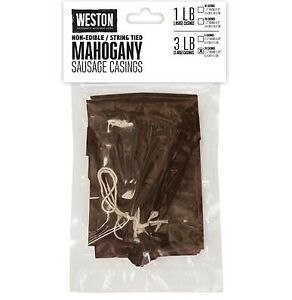 Weston Mahogany Sausage Casings 2 5in X 20in 20 Count