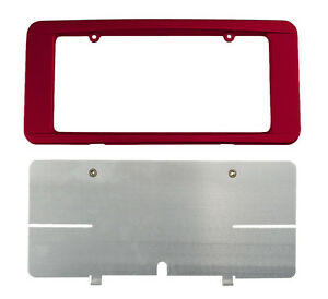 C6 Corvette Custom Painted Rear License Plate Frame Crystal Red 89 Gbe Wa505q