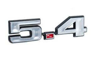 Ford Mustang 5 4 331 Stroker Engine Emblem Chrome Red 4 75 X 1 25