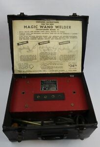 Vintage Patent Specialties Inc Magic Wand Welder Transformer Model a