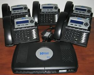 Xblue Networks X16 Office Phone System With 5 Telephones In Charcoal