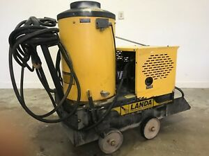 Used Landa Vhp 110 Volts Propane 2 2gpm 1500 Psi Hot Water Pressure Washer