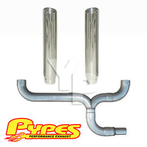 6 Slant Double Stack Stainless Pypes Exhaust Kit Chevy 2500 3500 Diesel Truck
