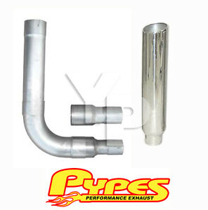 7 Slanted Stack Exhaust Dodge Ram 2500 3500 Diesel Stainless Steel Pypes Kit