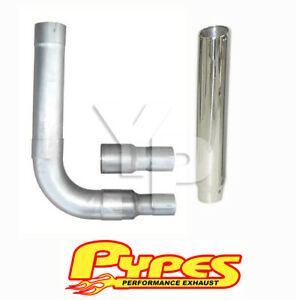6 Slant Single Stack Stainless Pypes Exhaust Kit For Chevy 2500 3500 Diesel
