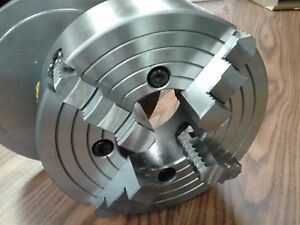 10 4 jaw Lathe Chuck W Independent Jaws W L00 Semi finished Adapter 1004f0