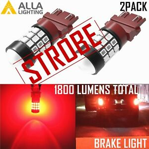 Alla Lighting 3157 Led Strobe Flashing Blinking Brake Tail Light Blinker Alert