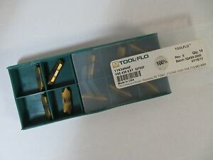 10 New Tool flo V85 435 Ext Gp50f Carbide Inserts 11634n4f Toolflo