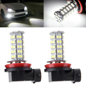 2 6000k White H8 H11 68smd Head Light Led Bulb Lamp For Chrysler Dodge Bmw Ford
