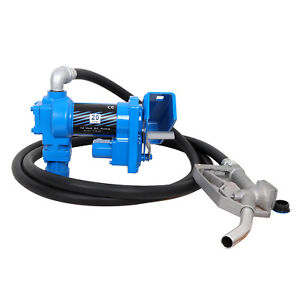 Electric Diesel Gasoline Fuel Transfer Pump Kit 12 Volts 20gpm