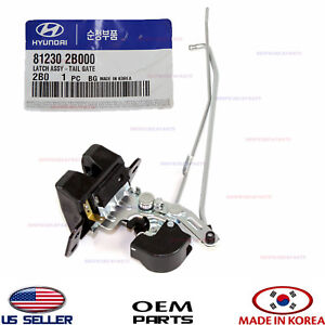 Tail Gate Latch Lock Genuine Hyundai Santa Fe 2007 2012 812302b000
