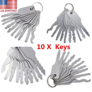10pcs Car Emergency Opening Kit Access Door Universal Easy Unlock Keys Tool Lock