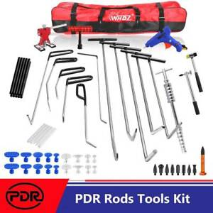 Set Paintelss Dent Repair Spring Steel Rods Auto Body Tools Hail Removal Kits