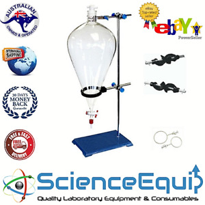 Separatory Separating Funnel Kit ptfe Stopcock 2000 Ml Funnel holder With Stand