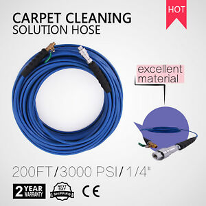 200ft Carpet Cleaning Solution Hose 1 4 275 Degree High Pressure Home Cleaner