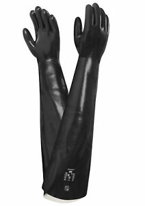 Ansell Neox Black Neoprene Coated Gauntlet Style Size 10