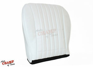 2000 2001 Chevy Camaro Ss Z28 Rs driver Side Bottom Leather Seat Cover White