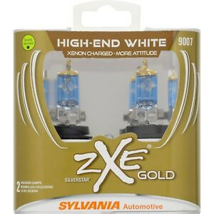 Sylvania 9007 Silverstar Zxe Gold Halogen Headlight Bulb contains 2 Bulb New