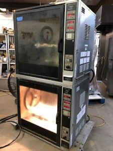 Henny Penny Scr8 Electric Double Stack Chicken Food Warmer Rotisserie Oven