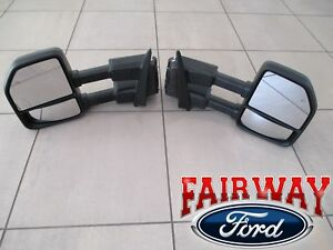 15 Thru 20 F 150 Oem Genuine Ford Power Trailer Tow Mirrors Pair For Xl Xlt