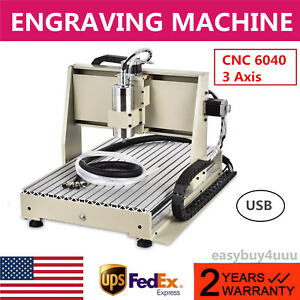 3 Axis Cnc 6040 Router Engraver Metalworking Milling Machine Carving Drill Tools