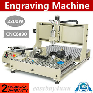 Usb 2 2kw 4 Axis 6090 Cnc Router Engraver Metal Milling Drilling Machine Carver