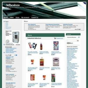 Completed Adhesives Science Online Business Website For Sale Free Domain Name