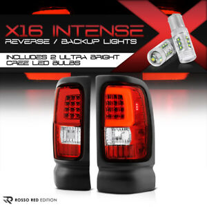 Cree Led Reverse 94 01 Dodge Ram 1500 2500 3500 Factory Red Oled Tail Lights
