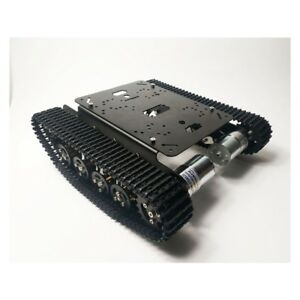 Ts100 Metal Rc Robot Tank Car Chassis Shock Absorption Car For Arduino Diy