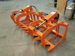 2018 72 Skid Steer Root Grapple usa Made orange