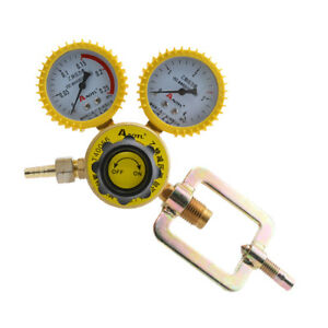 Mig Flow Meter Pressure Gas Cutting Acetylene Regulator Reducer 2 Gauge Set