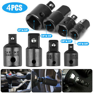 4 Pack 3 8 To 1 4 1 2 Inch Drive Ratchet Socket Adapter Reducer Air Impact Set