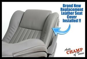 93 94 95 Pontiac Firebird Convertible driver Side Bottom Leather Seat Cover Gray