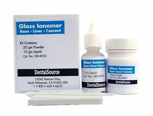 3 Sets Permanent Glass Ionomer Dental Cement Crown Bridge Veneer Cure Adhesive