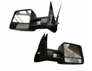 Tow Mirror Power Heated Smoke Lens Turn Signals For 07 18 Toyota Tundra