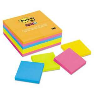 Post it Notes Super Sticky Pads In Rio De Janeiro Colors 3 X 3 051141985831