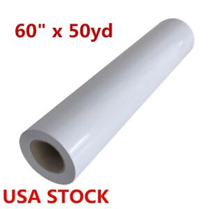 Usa Stock 60 X 50yd Roll Glossy Cold Laminating Film Paper Adhesive Glue