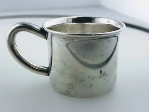 Lunt Sterling Silver Baby Infant Child S Cup Rattle In Handle No Mono