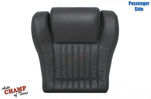 1993 1995 Pontiac Firebird passenger Side Bottom Leather Seat Cover Dark Gray