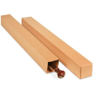 50 4x4x48 Cardboard Paper Boxes Mailing Packing Shipping Box Corrugated Carton