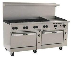 Vulcan 72cc 8b24gt 72 8 Burners 24 Thermostatic Griddle W 2 Convection Ovens