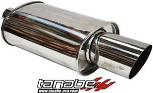 Tanabe Tuner Medalion Universal Hyper Muffler Canister W 100mm Tip Tun404