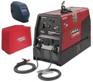Lincoln K2343 3hc Eagle 10 000 Plus Welder Generator With Adf Helmet Cover