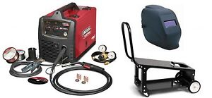 Lincoln Electric U2688 3hc Sp 140t Mig Welder With Adf Helmet And K2275 3 Cart