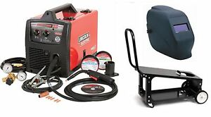 Lincoln Electric K2697 1hc Easymig 140 Welder With Adf Helmet And Cart