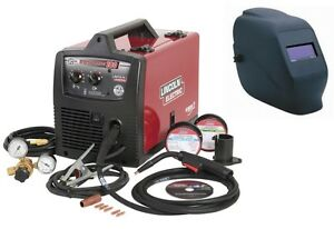 Lincoln K2698 1h Easy mig 180 Welder with Bonus Adf Helmet