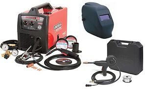 Lincoln Electric K2697 1sh Easymig 140 Welder With Spoolgun And Adf Helmet new