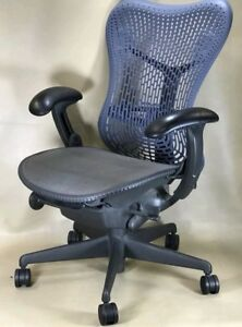 Herman Miller Mirra aeron Chair Fully Loaded Tilt Lock Posturefit Adj Arm