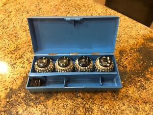 Nos Set Of 4 Vintage Ibm Selectric Typewriter Ball Heads Font Balls Plus Case